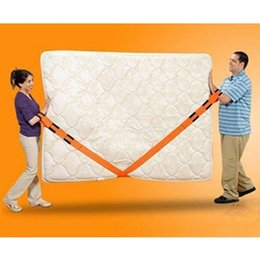 furniture lifts NZ - 1 Pair New Orange High-class Fabric Straps Carrying Ropes Lifting Moving Furniture Carrying Belt Sofa Bed Desk Moving Tools