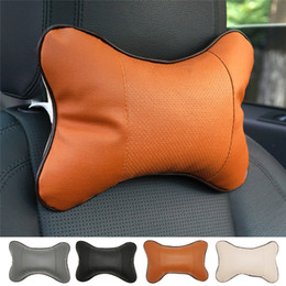 muscle cars NZ - 1 Pcs Leather Car Pillow Cushion Headrest Car Cushion Headrest Neck Pillow Relax Muscle Health Care Accessories