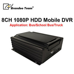 trucking gps 2019 - 1080P H.265 Mobile DVR HDD Car DVR 8CH Hard Disk MDVR 4G GPS Remote Monitoring For Truck   Bus   School bus special chea