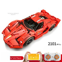 Discount unassembled rc kits - YX Red Fexxx Sports Car RC Building Block, DIY APP Control, Programmable, LED Lights, Developmental Toys, for Kid'