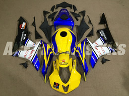 $enCountryForm.capitalKeyWord Australia - 3 gifts New ABS motorcycle bike Fairings Kits Fit For HONDA CBR600RR F5 2007 2008 07 08 CBR600RR F5 body set custom Fairing yellow blue 46