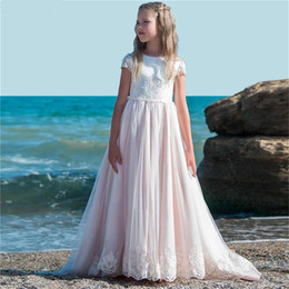 flower muslim girl Australia - Long Train First Communion Dresses For Girls Pageant Gowns 2018 Vestidos daminha Arican Muslim Flower Girl Dresses For Wedding