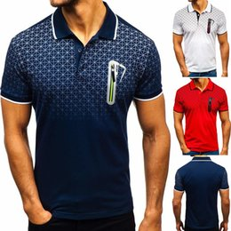 $enCountryForm.capitalKeyWord Australia - designer fashion men's polo shirt Men's lapel polo shirt gradient printed fake pocket design polo shirt lapel t-shirt