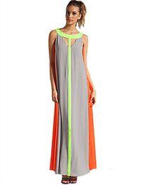 $enCountryForm.capitalKeyWord UK - Chiffon Split Joint Hit Color Will Pendulum Dress Sleeveless Easy Leisure Time Skirt