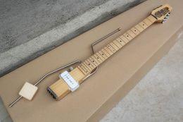 Mini travel guitars online shopping - MINI STAR Travel Electric Guitar with Rocker Pickup White Wood Pillars Fingerboard Customized Service