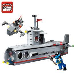 $enCountryForm.capitalKeyWord Australia - ENLIGHTEN 816 Military Submarine Deep Sea Adventure Figure Blocks Compatible Legoe Construction Building Toys For Children