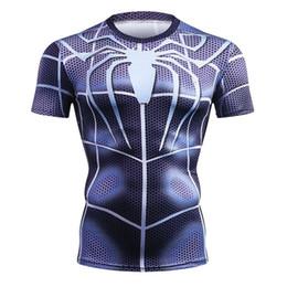 $enCountryForm.capitalKeyWord UK - New Summer Marvel Superhero T-Shirt 3D Superman Spiderman Batman Black Panther Men T Shirt Short Sleeve Compression Crossfit Tee 19062503