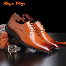 red derby shoes Australia - Heye Wings Classic Three Stitching Toe Type men's business shoes good price lightweight Derby Shoes Male bigger size