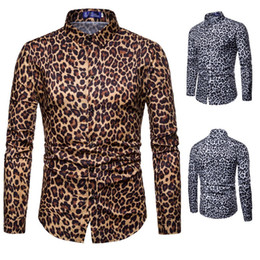 Wholesale mens leopard long sleeve shirt for sale - Group buy Fashion Mens Long Sleeve Shirts for Summer Leopard Print Hawaii Holiday Vacation Clothes Man Shirt C801