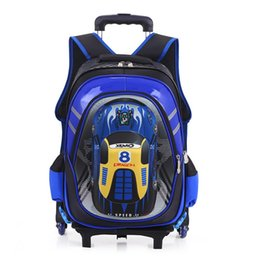 kids backpacks wheels Canada - Designer-Kids School Bags on Wheels Trolley School Backpacks Wheeled Backpack Kid's Rolling Backpack for Boy Children Travel Bags