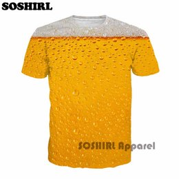 Full Sleeve Tees Men Australia - Soshirl Cool Summer Beer Full Print T Shirt Novelty Short Sleeve Tee Top Man Unisex Outfit High Quality Causal Dropship T -Shirt