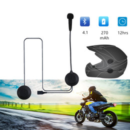 wireless bluetooth motorcycle helmet 2019 - EJEAS E1 Bluetooth 4.1 Motorcycle Helmet Headset 270mAh 12hrs Wireless Skiing Communication Without Intercom for 2 Rider