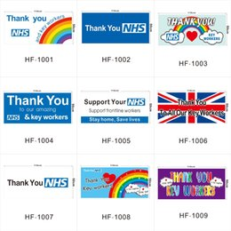 Discount scotland flags Thank You NHS Rainbow Flag UK Polyester Banner Printed Outdoor Thank You Key Workers Flags for England Scotland Wales MM