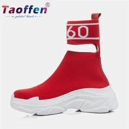 $enCountryForm.capitalKeyWord Australia - Taoffen Walking Shoes Women Real leather Trainers Casual Sport Shoes Sneakers Print Knitting Gym Dance Footwear Size 34-39