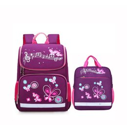 pink car set UK - Children School Bags set for Girls and Boys Orthopedic Backpack cartoon butterfly car School Bag Kids Satchel Knapsack