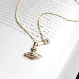 925 spilla d'argento Planet zircone collana in oro creatività collana pianeta squisito per le donne gioielli multa in Offerta