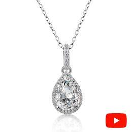$enCountryForm.capitalKeyWord UK - Not Fake S925 Fine Jewelry Necklace Sona Necklace Boutique Handmade Custom Jewelry Retro Exquisite Semi Gemstone 18inch J190714