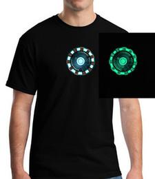 $enCountryForm.capitalKeyWord Australia - Fashion Man Woman Boy Ironman Iron Man Power Core Glow In Dark Luminous Short T-shirt Tshirt Masculinas Underwear Top Tee Top Y19072201