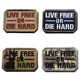 $enCountryForm.capitalKeyWord NZ - VP-208 HOT! Embroidered Morale patches LIVE FREE OR DIE HARD Tactical Badge Armband Iron on patch for CAP jacket