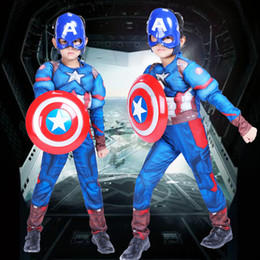 $enCountryForm.capitalKeyWord Australia - superhero theme party Cosplay Muscle Captain America Costume Children's Day Halloween Masquerade Captain America Shield Mask