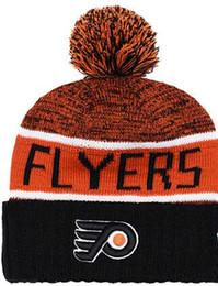 $enCountryForm.capitalKeyWord Australia - Philadelphia Flyers Ice Hockey Knit Beanies Embroidery Adjustable Hat Embroidered Snapback Caps Orange White Black Stitched Hat One Size