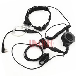 TacTical headseTs pTT online shopping - baofeng kenwood walkie talkie radio microphone heavy duty PTT neck throat mic headset radio tactical headset