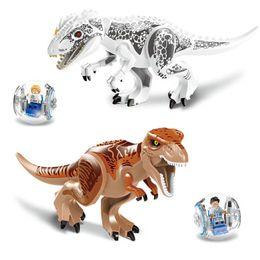 Assemble Blocks Australia - Building Block Bricks Toys Jurassic World Educational Dinosaurs Toys Model Puzzle Assembling for Kids Gifts - Random Delivery