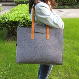 $enCountryForm.capitalKeyWord Australia - Sight Focus Brand Grey Felt Tote Bag Shoulder Bag Lightweig Fashion Recycling Totes Woman Bag Vilten Tas Bolso Gris Mujer Y190619
