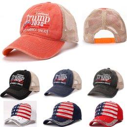 $enCountryForm.capitalKeyWord Australia - Make America Baseball Cap Trump 2020 President Hats Net Cap Rivet Diamond Bling Sports Ball Hat Travel Beach Sun Hat Party Hats WX9-1436