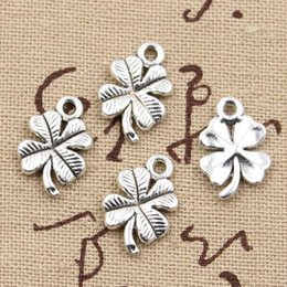$enCountryForm.capitalKeyWord Australia - 30pcs Charms lucky irish four leaf clover 17*19mm Antique charms pendant fit,Vintage Tibetan Silver,DIY for bracelet necklace