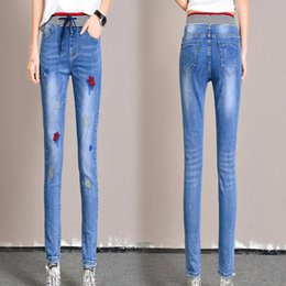 $enCountryForm.capitalKeyWord Australia - Suit-dress 2019 In Waist Jeans Woman Autumn Self-cultivation Show Thin And Small Pants Trousers