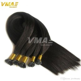 wholesale fusion human hair extensions Australia - VMAE Prebonded Keratin Fusion 100g Per Pack Brazilian Natural Straight Keratin Stick Virgin Hair Stick I Tip Human Hair Extensions Opp Bag