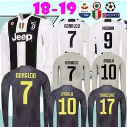 b0a25c3e7 2018 2019 Juventus Home away 3rd RONALDO black soccer Jersey 18 19 DYBALA  KHEDIRA D.COSTA MANDZUKIC long sleeve Adult Football shirts