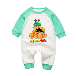 formal girl clothes UK - 2017 Autumn Winte Rbaby Romper Long Sleeve Anime Dragon Ball Babies Body Clothing Cotton Newborn Baby Boy Girl Jumpsuit Clothes J190524