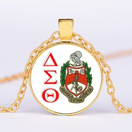 $enCountryForm.capitalKeyWord Australia - 2019 fashion creative sigma Delta sigma theta time gem necklace new children's jewelry alloy accessories sweater chain wholesale