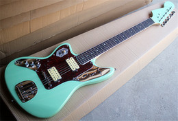 Fingerboard Australia - Wholesale Green Left-hand Electric Guitar with Rosewood Fingerboard,Red Pearl Pickguard,Chrome Hardwares,can be customized.