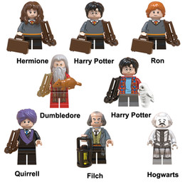 Harry Potter Blocks NZ - Educational Harry Potter Hermione Dumbledore Quirrell Hogwarts Ron Filch Mini Action Figure Toy Building Block Bricks