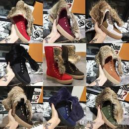 $enCountryForm.capitalKeyWord Australia - Women Winter Booties Real Rabbit Fur Snow Boots Designer Shoes Real Leather Australia Classic Kneel Flat Boots with BOX US11