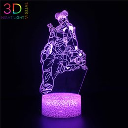 ac toys NZ - ZOEY Lifeline 3D Night Light A P E X Toys Night Light with 3 Patterns Remote Control and Smart Touch 16 Colors Changing
