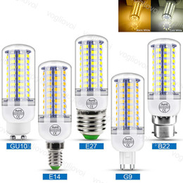 led bulb chandelier b22 Australia - Led Bulbs 5730 SMD Corn Spotlight 3W 5W 7W 9W 12W 15W E27 GU10 110V 220V Warm White For Indoor Chandelier Candle EUB