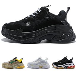 Wholesale 2018 Multi Luxury Triple S Designer Low Old Dad Sneaker Combination Soles Boots Mens Womens Fashion Casual Shoes High Top Quality Size