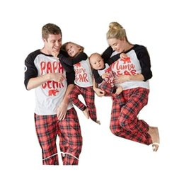 match clothing mom baby Australia - Family Matching Clothes Christmas Pajamas Long Sleeve Printing 2 Pcs Pijamas Sets Plaid Cotton Mom&daughter Baby Clothing Qz055 Y19051103