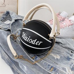 pu leather book bag Australia - 2020 New Pu Leather Letters Top Quality Fashion Original Brand Basketball Handbag Womens Shipping Bag Book Tote Lady Shoulder Bags Paris #654