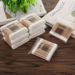 Wholesale 1000pcs 10 packs Bamboo Cotton Buds Cotton Medical Tampons Cleaning Ears Wood Sticks Makeup Health Tampons Cottonete Focallure