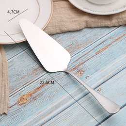 cake servers knives 2019 - NEW Cake Pizza Cheese Shovel Knife Stainless Steel Baking Cooking Tools or Ice Cream Server Western Knife Turner Divider
