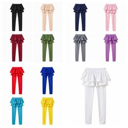 Branded Stock Clothes Wholesale Australia - Kids designer clothes Girls pantskirt Baby Leggings toddle Candy Color Dance Pantyhose Pants Long Stocking Fashion Boutique Tights YFA935