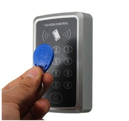 Rfid ReadeR keypad online shopping - Plush Water Proof Touch Password Keypad Easy Handle users KHZ ID Access Controller Contactless EM Reader for Access control system