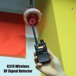 Détecteur de signal RF sans fil Détecteur de téléphone cellulaire Détecteur de bugs signal gamme complète Détecteur US / EU Prise 1-8000 MHz G319 Dispositif de détection en Solde