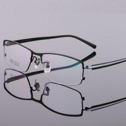 59d678c106 Coyee Pure Titanium Business Optical Eyeglasses Frames Brand Designer Top  Quality Eyewear For Men Fashion Half Rim Flexible
