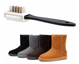 Eco friEndly shoEs online shopping - New Housekeeping Useful Suede Shoe Brush Side Cleaning Brush And Rubber Eraser Set Black S Shaped Shoes Cleaner
